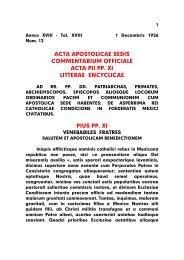 acta apostolicae sedis commentarium officiale acta pii pp. xi litterae ...
