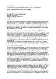 Deutschen - Bundeskanzler Willy Brandt Stiftung