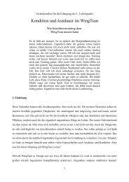 Kondition und Ausdauer im WingTsun - Ralf Dorn - Index