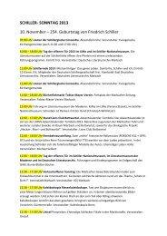 SCHILLER- SONNTAG 2013 10. November – 254 ... - IGS Marbach