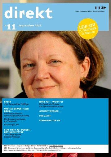 direkt 11, September 13 (pdf, 809 kB) - Lehrerinnen und Lehrer ...