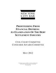 Profiteering From Financial Distress - New York City Bar Association