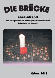 Ausgabe Ostern 2013 - Evangelische Kirchengemeinde Westhofen