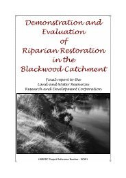 Demonstration and Evaluation of Riparian Restoration in the ...