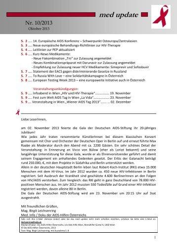 med update 10_13.pdf - Die Aidshilfen Österreichs