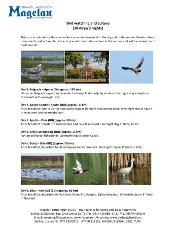 Bird watching and culture (10 days/9 nights)