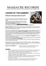 Legion of the damned – hollands best kept metal secret - Free