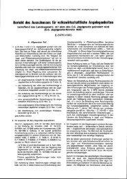 Bericht des Ausschusses für volkswirtschaftliche Angelegenheiten