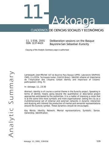 Analytic Summary Ciencias Sociales-Azkoaga 11