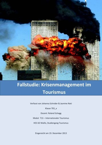 Fallstudie: Krisenmanagement im Tourismus