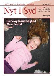 Nyt i Syd 01-2012 - Luthersk Mission, Sønderjyllands Afdeling