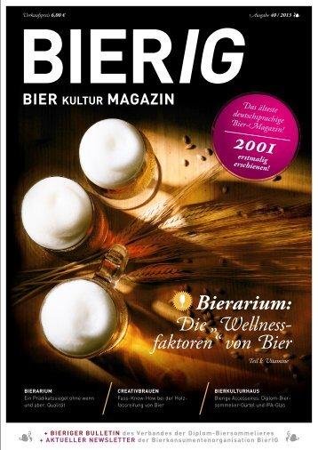 Ausgabe 40/Oktober 2013 - BIERkulturHAUS