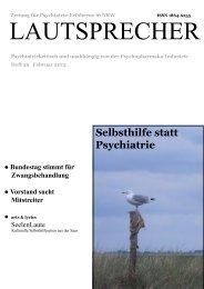 Heft 39 (2/2013) PDF-Datei - Psychiatrie-Erfahrene NRW