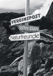Vereinspost - Naturfreunde Sektion Bülach