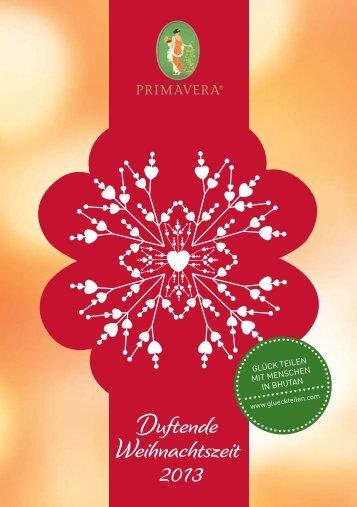PRIMAVERA Duftende Weihnachtszeit 2013 - webe-Marketing
