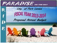 proposed budget 2013-2014 - City of Port Lavaca