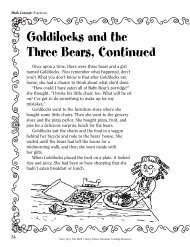 Goldilocks and the Three Bears, Continued