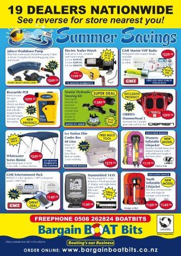 2013 summer web mailer - Bargain Boat Bits