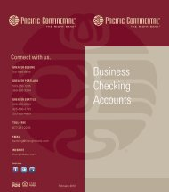 Business Checking Accounts - Pacific Continental Bank