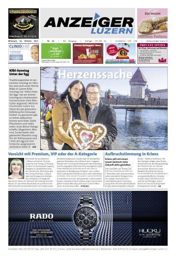 Anzeiger Luzern, Ausgabe 41, 16. Oktober 2013