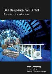 DAT Imagebroschüre - DAT Bergbautechnik GmbH