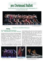 Ausgabe September 2013 - Ballettfreunde Dortmund