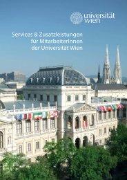 Services und Zusatzleistungen - Neue Professuren an der ...