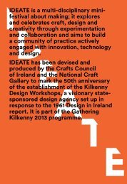 Download the IDEATE Festival brochure here on PDF - Craft in Ireland