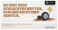 Flyer Herbst-/Winter Service-Angebote - smart center Flensburg