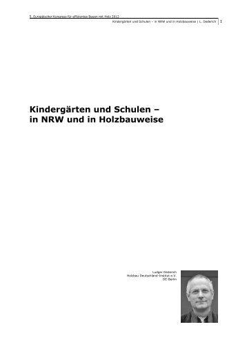 Kindergärten und Schulen – in NRW und in Holzbauweise - Forum-HolzBau