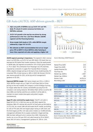 GB Auto (AUTO): ASP-driven growth