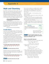 Math and Chemistry - McGraw-Hill Ryerson