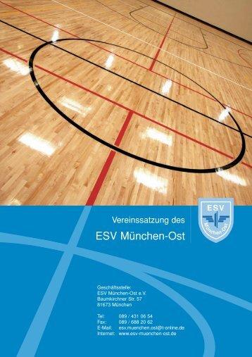 Vereinssatzung - ESV München-Ost