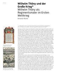 Annette Rainer, Wilhelm Thoeny und der Große Krieg - GrazMuseum