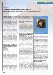 Sterbebegleitung mit Homöopathie - Gisela Holle