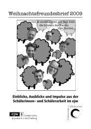 Freundesbrief Winter 2009/2010 - ejw