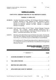 Agenda - Darwin City Council - Northern Territory Government