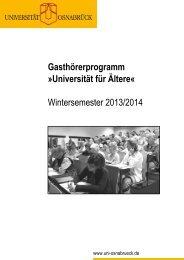 Universität für Ältere - Zentrale Studienberatung Osnabrück: zsb-os.de