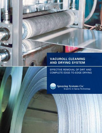 vacuroll cleaning and drying system - Spraying Systems Co.