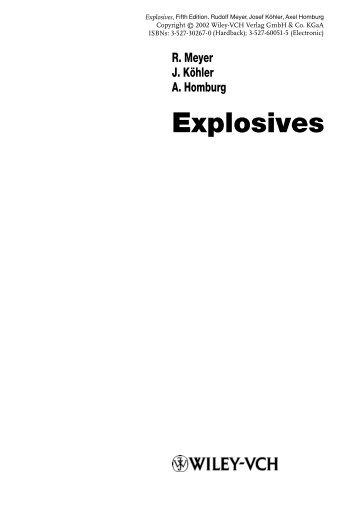 the preparatory manual of explosives pdf