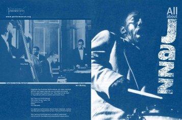 jazz book - San Francisco Performances