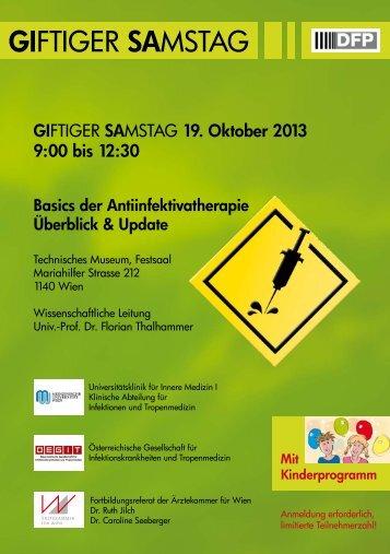 GIFTIGER SAMSTAG - Giftigen Dienstage