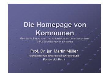 Die Homepage von Kommunen - Institut für E-Business GmbH