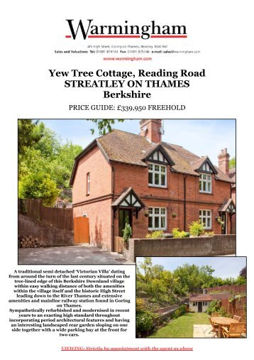 Yew Tree Cottage, Reading Road STREATLEY ON ... - Warmingham