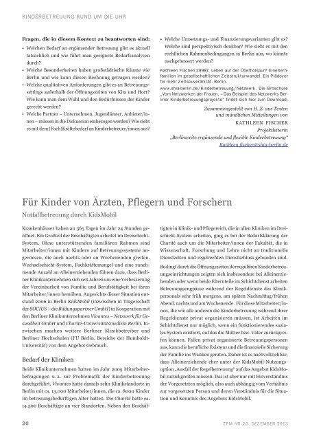 Zeitpolitisches Magazin - Deutsche Gesellschaft für Zeitpolitik