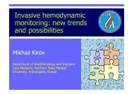 Invasive hemodynamic monitoring: new trends and possibilities