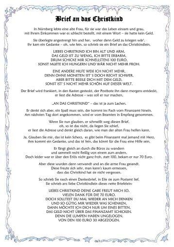 Brief an das Christkind Brief an das Christkind