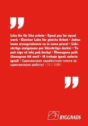Lika lön för lika arbete • Equal pay for equal work • Gleicher Lohn für ...