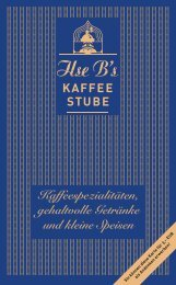 Die Speisekarte von Ilse Bs Kaffeestube - Tom Pauls Theater