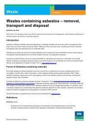 Wastes containing asbestos – removal, transport - EPA - SA.gov.au